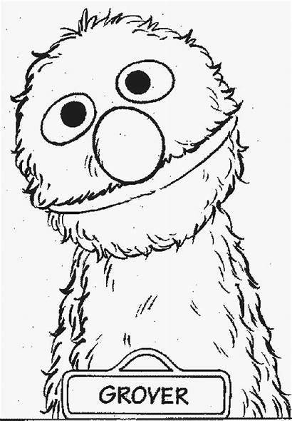 Grover Muppets Clipart Coloring Sesame Street Syd