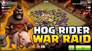 Clash of Clans War Raid - 40+ Hogs / LvL 10 Barbarian King ...