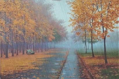 Hujan Autumn Rain Bergerak Pemandangan Animasi Gambar