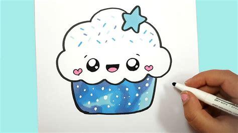 bilder zum selber zeichnen kawaii cupcake selber malen
