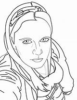 Portrait Self Lineart Drawing Portraits Deviantart sketch template