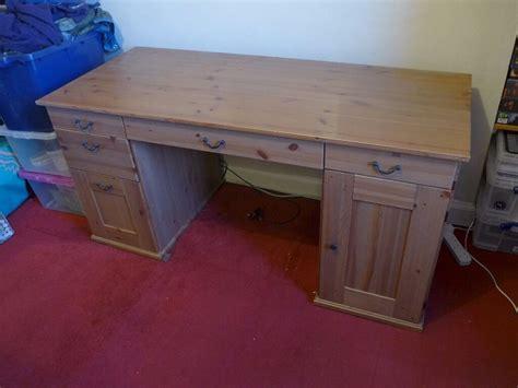 Ikea Schreibtisch Kiefer by Solid Wooden Desk Antique Pine Condition Ikea Alve