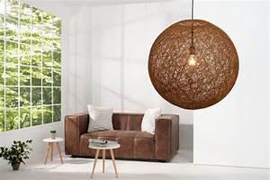 Designermöbel Riess Ambiente Halstenbek : stylische h ngeleuchte cocoon xl in natur braun 60cm lampe riess ~ Bigdaddyawards.com Haus und Dekorationen