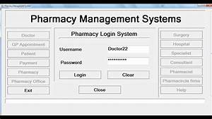 How To Create Pharmacy Management System In Visual Basic