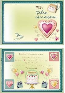 Cartoes De Aniversarios Personalize Momentos Cartão Aniversário Mãe