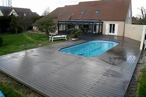 piscine avec terrasse en bois dootdadoocom idees de With terrasse bois avec piscine