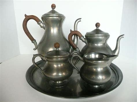 Royal Holland Pewter Tea and Coffee Service by eyeforaneyevintage