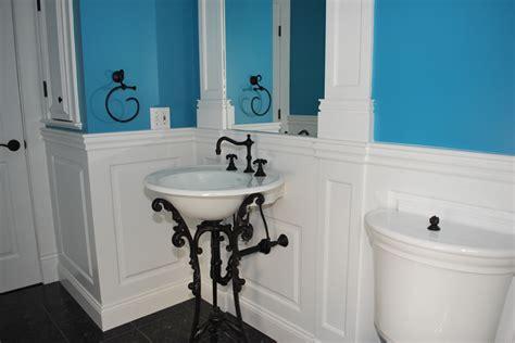 bathroom with wainscoting ideas custom wainscoting bathroom picture ideas