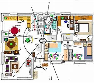 plan maison plain pied feng shui With construire une maison feng shui