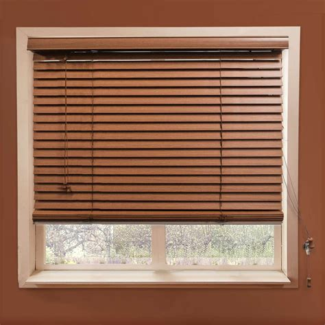 2 faux wood blinds chicology simply white or brown faux wood blind 2 inch