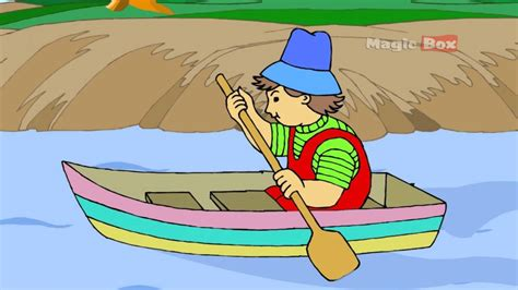 Row Your Boat In English by Row Row Row Your Boat English Nursery Rhymes Cartoon