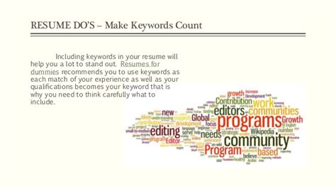 5 Resume Do S And Don Ts by Resume Tips 2016 Do S And Don Ts