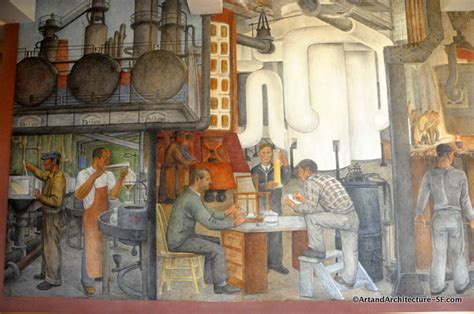 Coit Tower Murals Wpa by Ralph Ward Stackpole And Architecture From