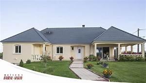 maison moderne avec plan en u With modele de maison en u