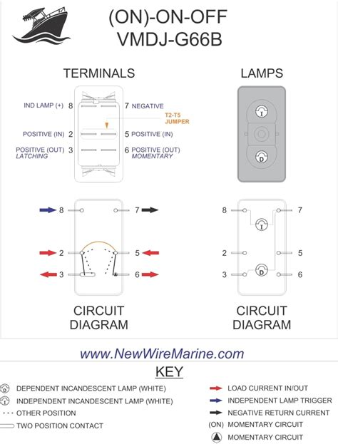 rocker switch wiring diagrams  wire marine