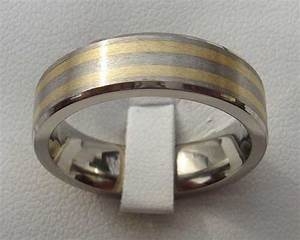 titanium wedding ring with inlaid gold love2have in the uk With titanium wedding rings uk