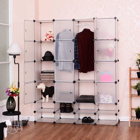 Cabinet For Clothes For Sale by Costway Diy 16 8 Cube Portable Clothes Wardrobe Cabinet