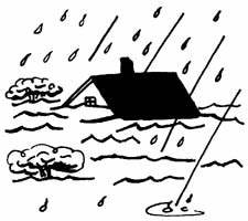 Flood clipart stormy day - Pencil and in color flood ...