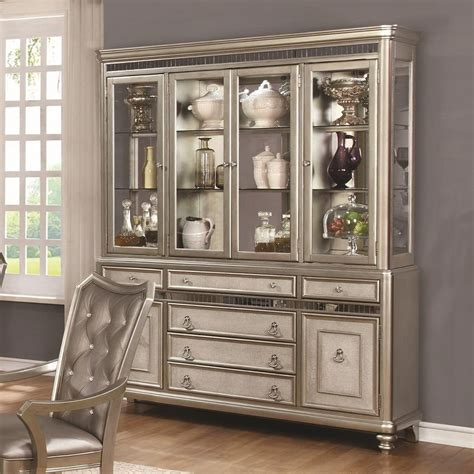 kitchen cabinets in china coaster danette server and china cabinet with led lighting 6124
