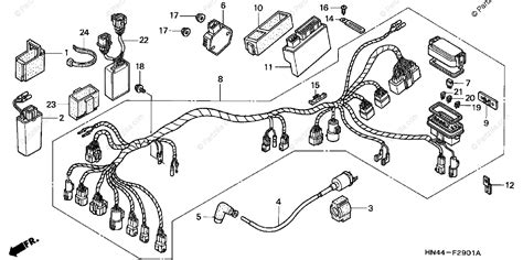 honda atv 2001 oem parts diagram for wire harness 2