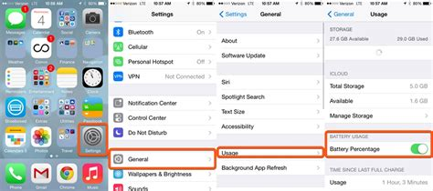 turn on battery percentage iphone how to show battery percentage on iphone