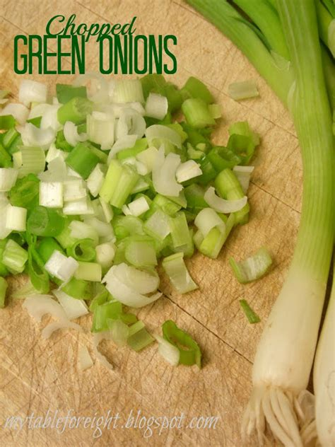 chopping green onions my table for eight by jen how to chop green onions