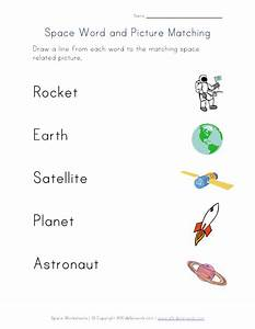 Planets Matching Worksheet (page 2) - Pics about space