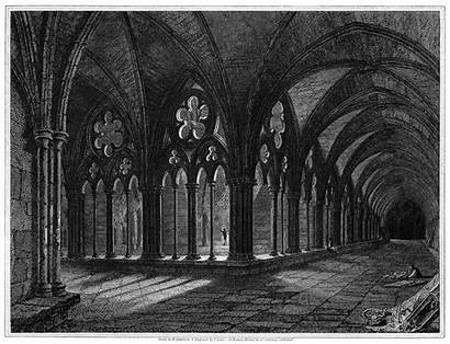 Salisbury Cathedral Cloister Illustrations Perspective 1600 Px
