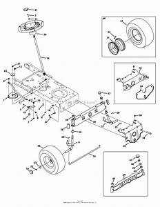 Mtd 13bc762f000  2012  Parts Diagram For Front End Steering