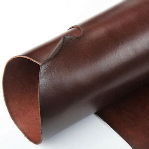 wuta brown veg tanned cowhide leather 2mm thick drum dyed
