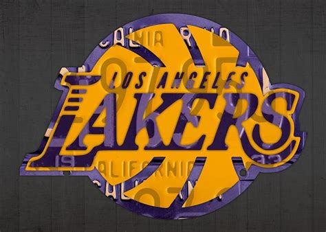 Los Angeles Lakers Basketball Team Retro Logo Recycled ...