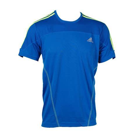 t shirt adidas adidas response climalite sleeve t shirt blue