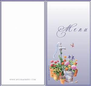 Modele De Menu A Imprimer Gratuit : exemple modele menu a imprimer gratuit ~ Melissatoandfro.com Idées de Décoration