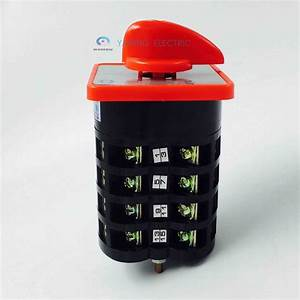 Manual Motor Switch 4 Pole 3 Position Rotary Switch 7 5kw
