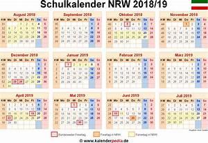 Ferien Nrw 2018 19 : schulkalender 2018 2019 nrw f r pdf ~ Buech-reservation.com Haus und Dekorationen