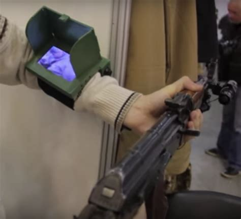 Ukrainian Matlasha wrist mounted sighting system - The