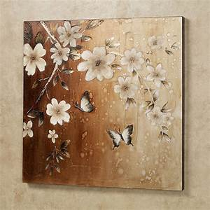 midday sun butterfly floral canvas wall art With canvas wall decor