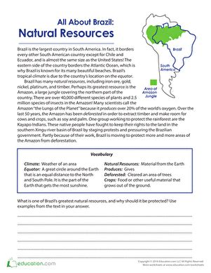 all about brazil natural resources worksheet free printable homeschool freebies