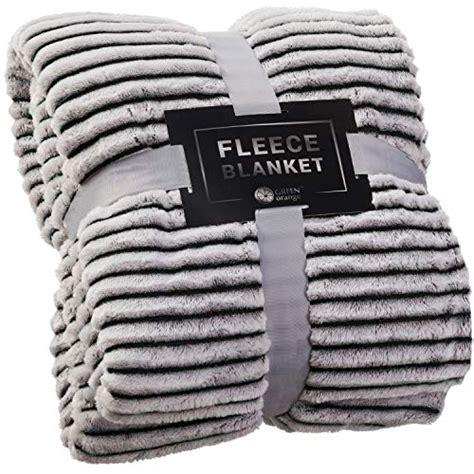 green orange fleece throw blanket  couch  lightweight black  white soft plush