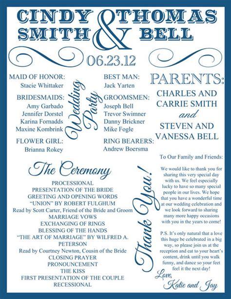 wedding program design ideas  guide  party guest