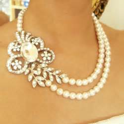 vintage wedding earrings pearl bridal necklace vintage wedding jewelry deco