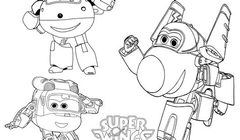 Super Wings Coloring Pages For Kids Printable