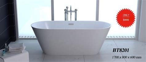 Bathtub Store by 1001now Freestanding Modern Seamless Acrylic Bathtub Gm