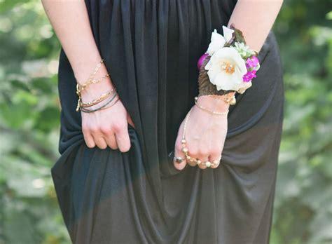 diy boho flower bracelet green wedding shoes weddings