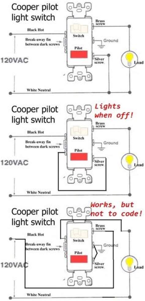 single pole switch and pilot light wiring diagram wiring diagram for three way switches with pilot light
