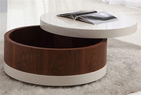 Round Coffee Table With Storage Design Modern