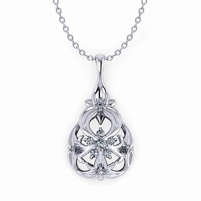 Necklace Diamond Floral Drop Jewelry Designs