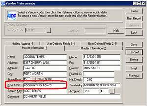 How to Use the 'DBA 1099 Field in Owner and Vendor Maintenance