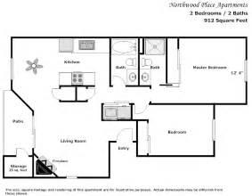 2 bedroom floorplans northwood place apartments modesto