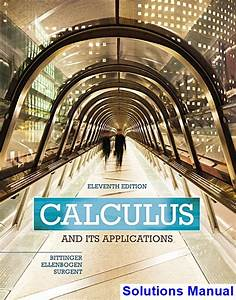 Calculus And Its Applications 11th Edition Bittinger